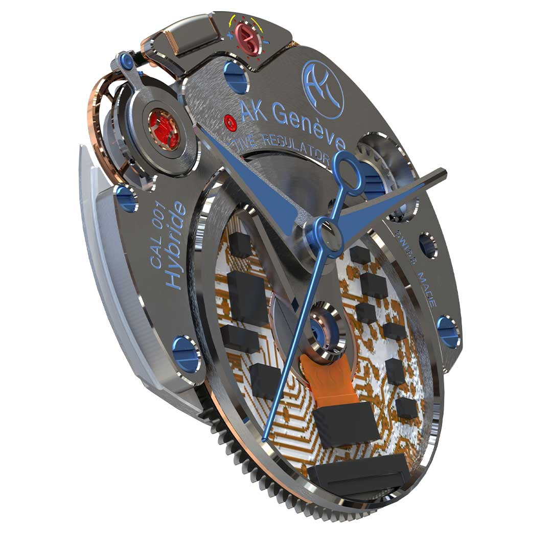 automatic watch caliber electronically driven barrel