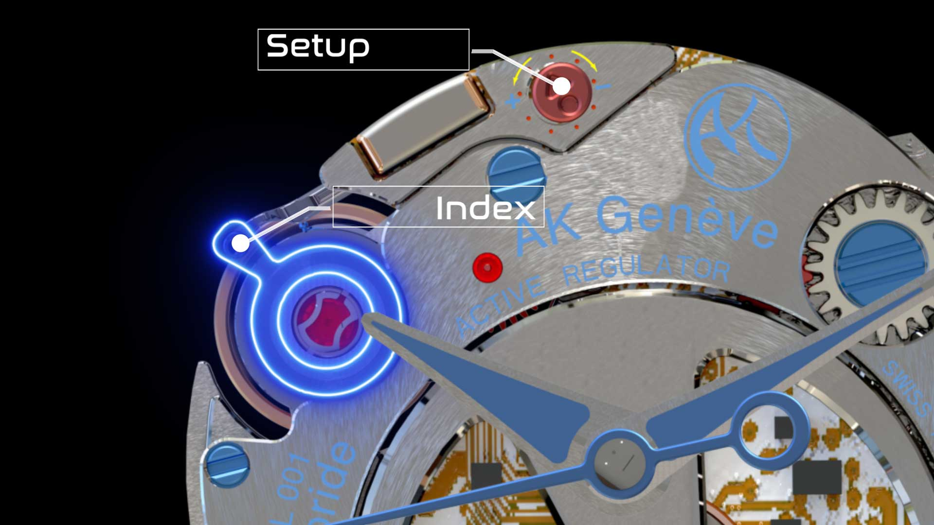 First hybrid caliber in watchmaking index lights on