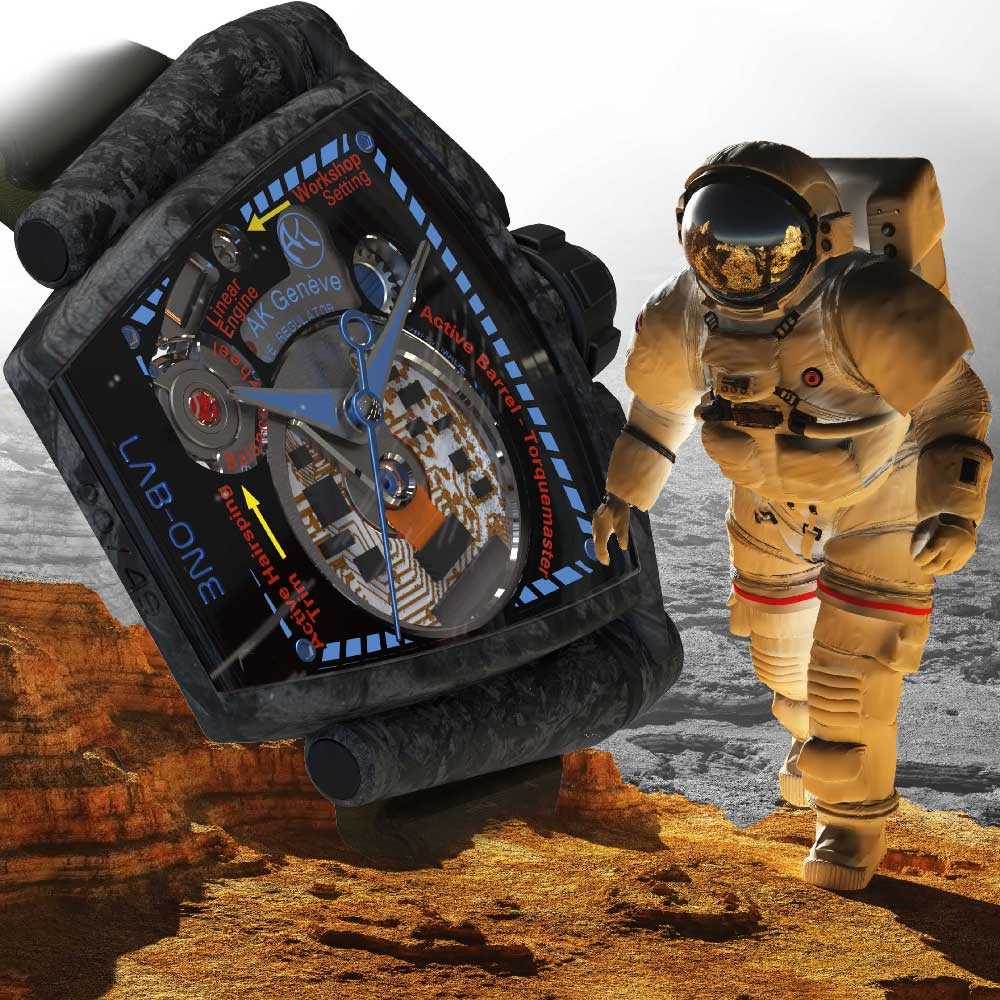 Mission to mars astronaut and LAB-ONE carbone edition