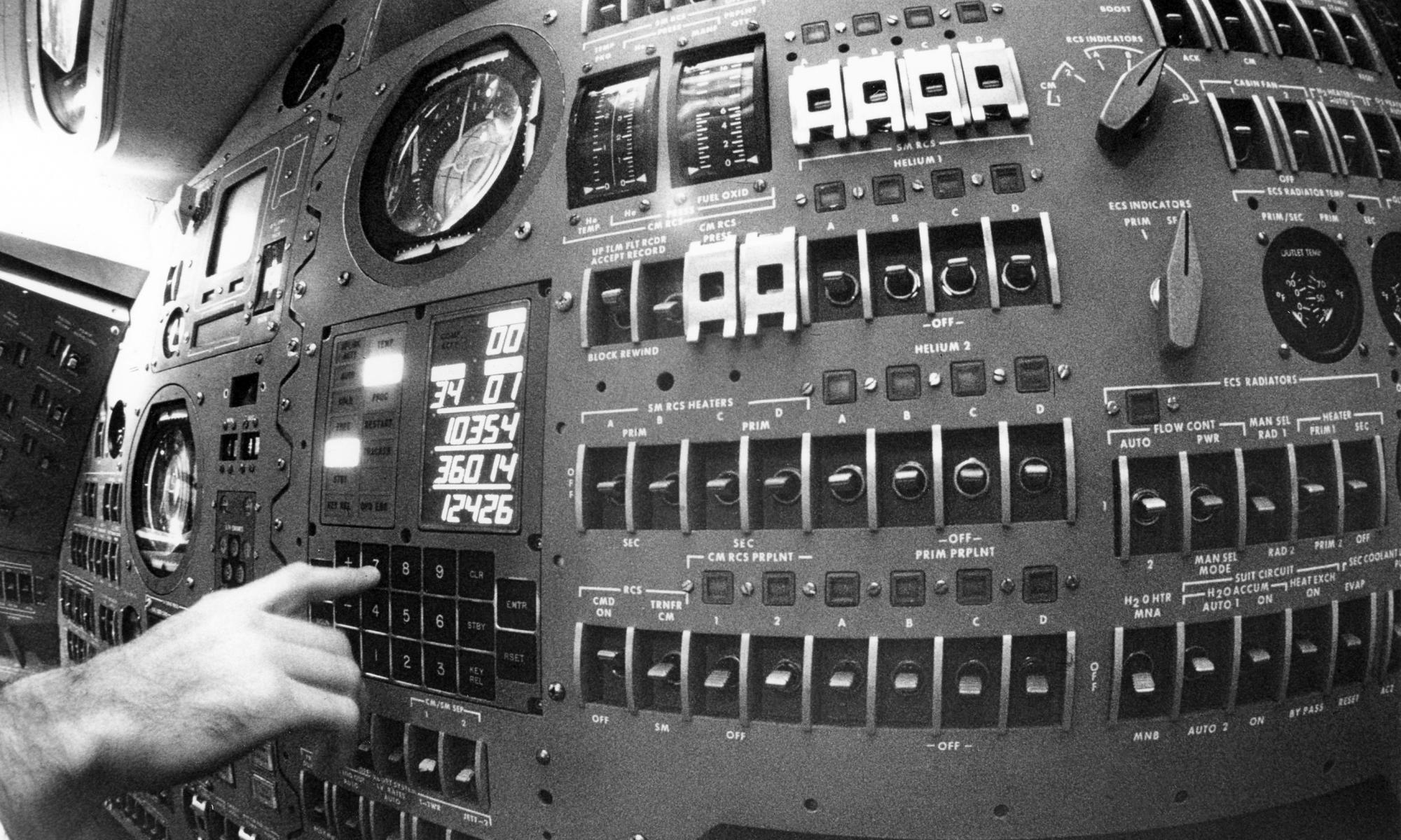 Inside capsule apollo credits NASA