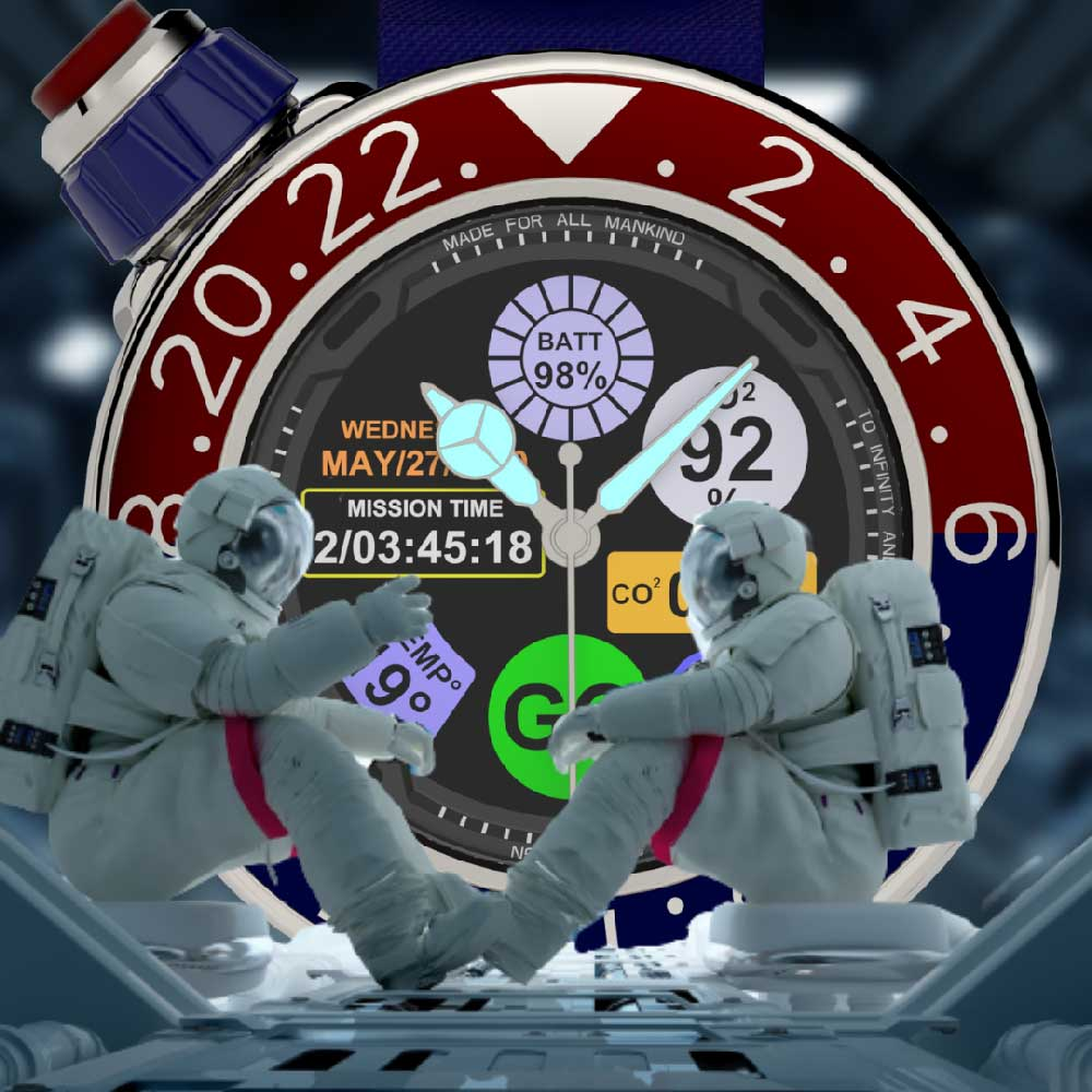 2 astronauts working together on a new mission Chronoscaphe