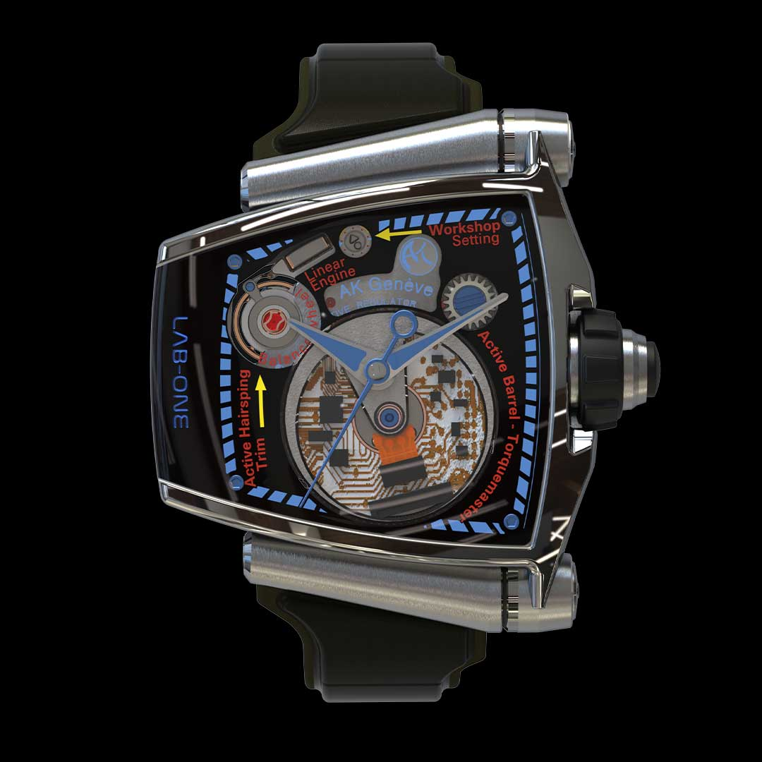 lab.one watch titanium grade 5 movement dial