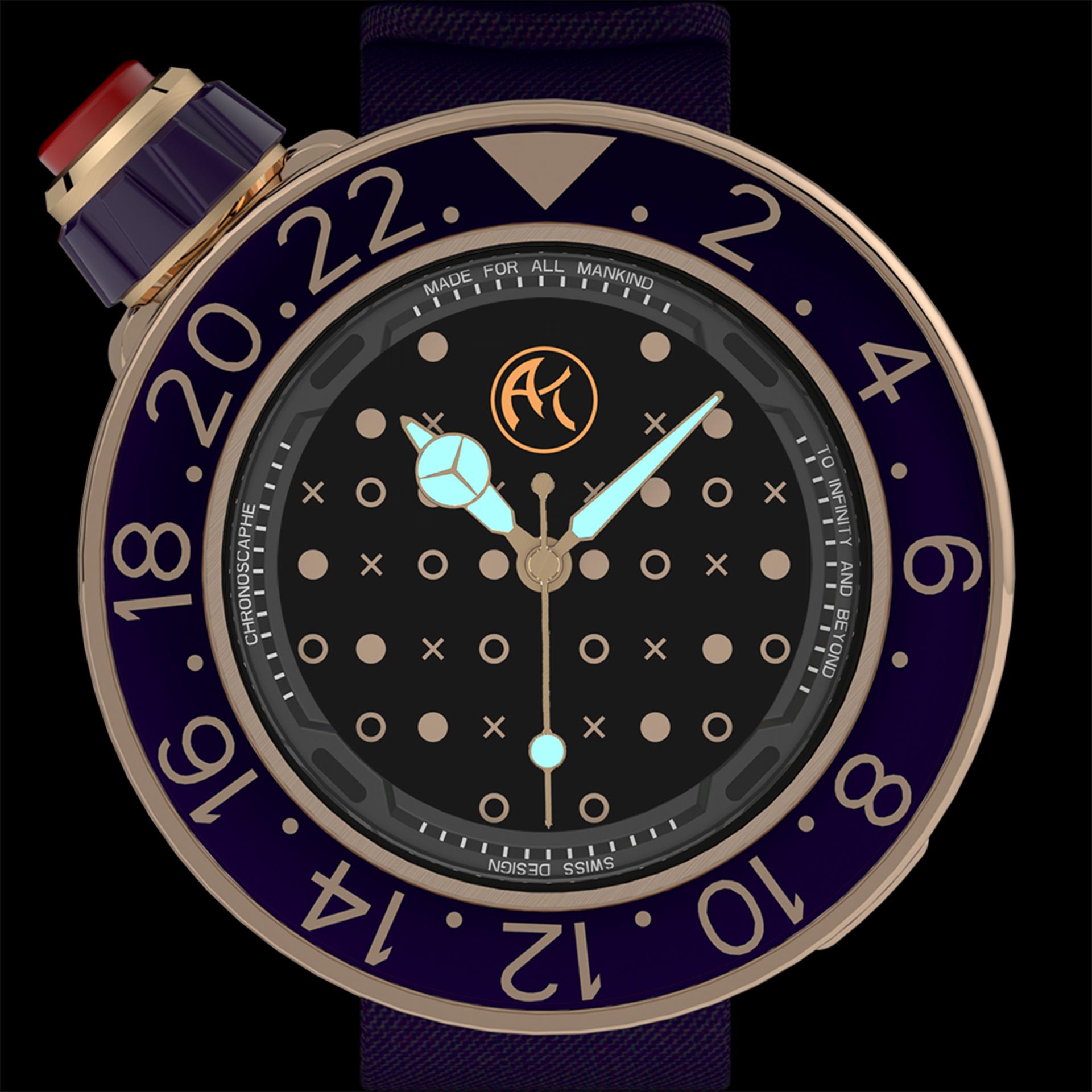 2 montres WARP AK Genève