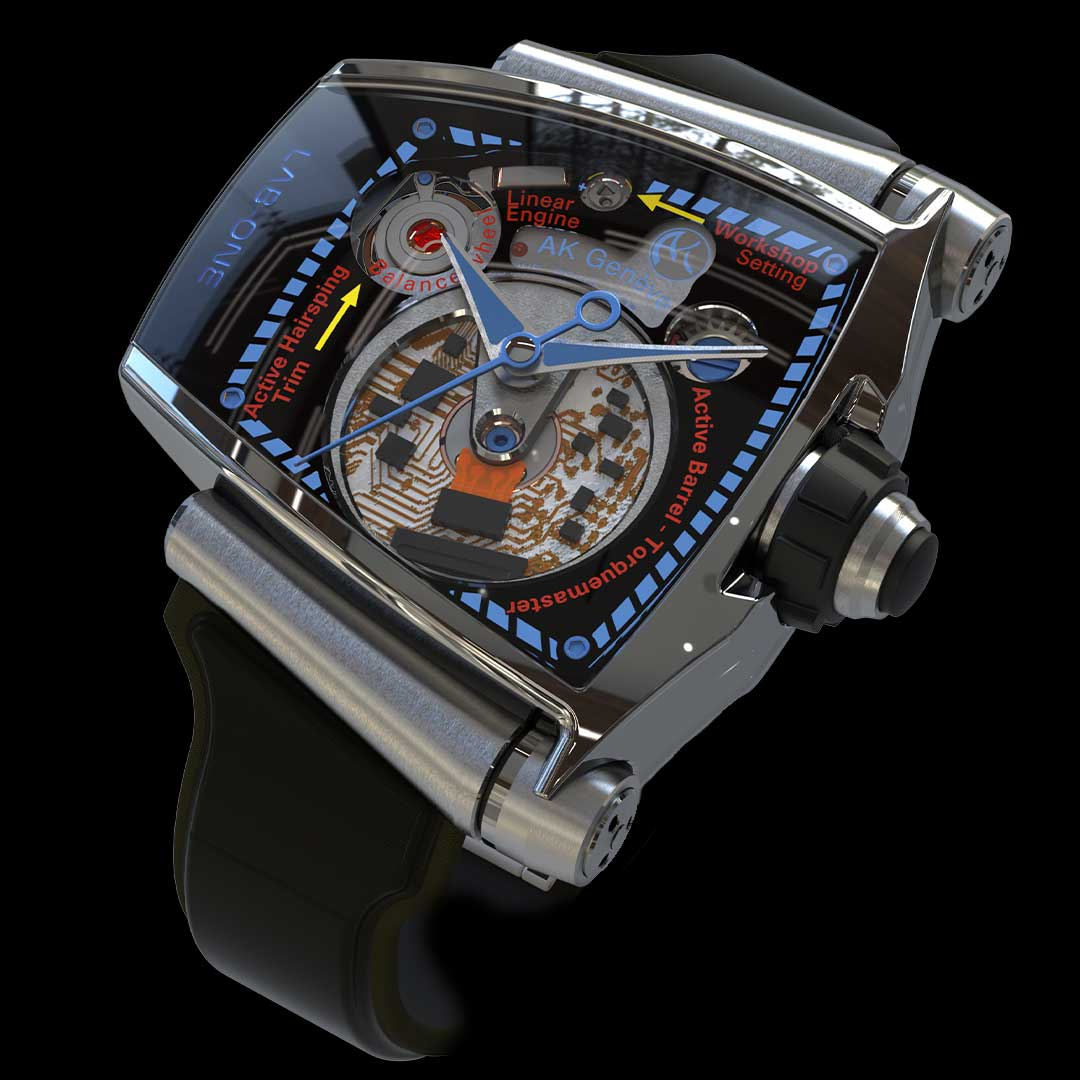 lab.one watch tianium grade5 movement view